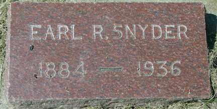 SNYDER, EARL R. - Minnehaha County, South Dakota | EARL R. SNYDER - South Dakota Gravestone Photos