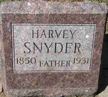 SNYDER, HARVEY - Minnehaha County, South Dakota | HARVEY SNYDER - South Dakota Gravestone Photos