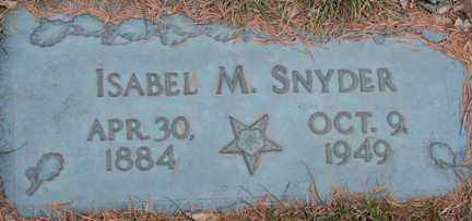 SNYDER, ISABEL M. - Minnehaha County, South Dakota | ISABEL M. SNYDER - South Dakota Gravestone Photos