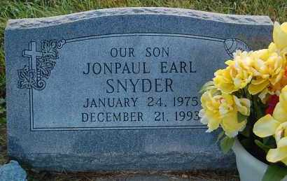 SNYDER, JONPAUL EARL - Minnehaha County, South Dakota | JONPAUL EARL SNYDER - South Dakota Gravestone Photos