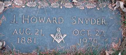SNYDER, J. HOWARD - Minnehaha County, South Dakota | J. HOWARD SNYDER - South Dakota Gravestone Photos