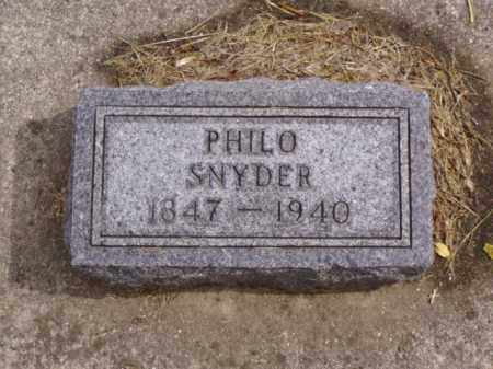 SNYDER, PHILO - Minnehaha County, South Dakota | PHILO SNYDER - South Dakota Gravestone Photos