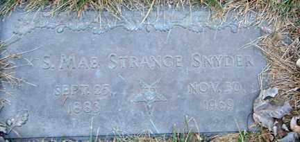 STRANCE SNYDER, S. MAE - Minnehaha County, South Dakota | S. MAE STRANCE SNYDER - South Dakota Gravestone Photos