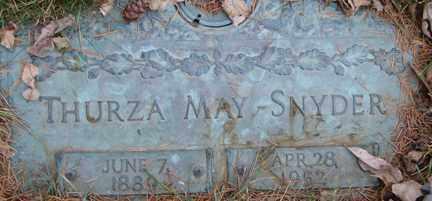 SNYDER, THURZA MAY - Minnehaha County, South Dakota   THURZA MAY SNYDER - South Dakota Gravestone Photos