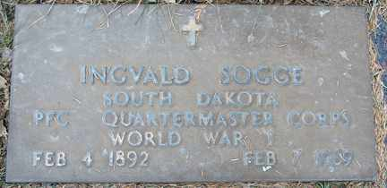 SOGGE, INGVALD (WWI) - Minnehaha County, South Dakota | INGVALD (WWI) SOGGE - South Dakota Gravestone Photos