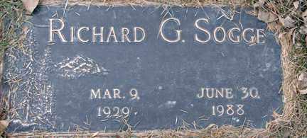 SOGGE, RICHARD G. - Minnehaha County, South Dakota | RICHARD G. SOGGE - South Dakota Gravestone Photos