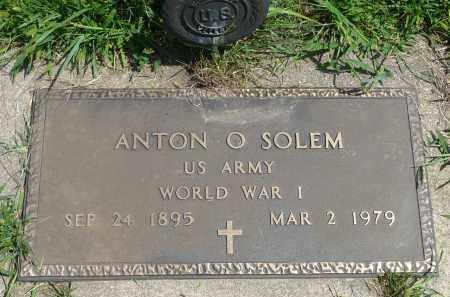 SOLEM, ANTON O. (WWI) - Minnehaha County, South Dakota | ANTON O. (WWI) SOLEM - South Dakota Gravestone Photos