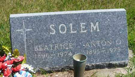 SOLEM, BEATRICE - Minnehaha County, South Dakota | BEATRICE SOLEM - South Dakota Gravestone Photos