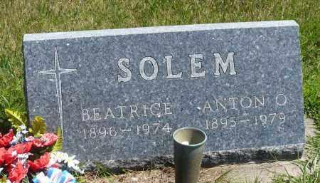 SOLEM, ANTON O. - Minnehaha County, South Dakota | ANTON O. SOLEM - South Dakota Gravestone Photos