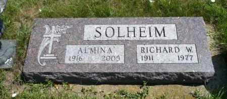 SOLHEIM, ALMINA - Minnehaha County, South Dakota | ALMINA SOLHEIM - South Dakota Gravestone Photos