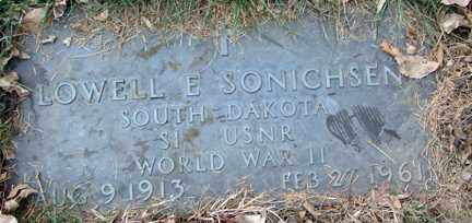 SONICHSEN, LOWELL E. (WWII) - Minnehaha County, South Dakota | LOWELL E. (WWII) SONICHSEN - South Dakota Gravestone Photos