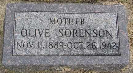 SORENSON, OLIVE - Minnehaha County, South Dakota | OLIVE SORENSON - South Dakota Gravestone Photos