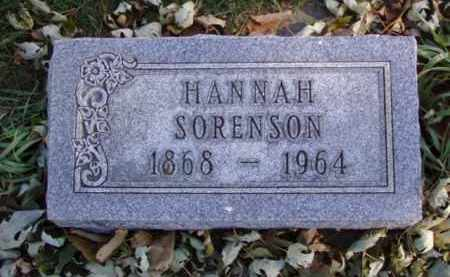 SORENSON, HANNAH - Minnehaha County, South Dakota | HANNAH SORENSON - South Dakota Gravestone Photos