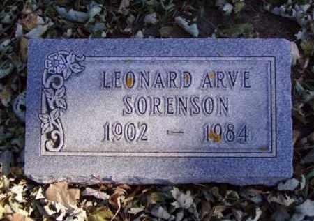 SORENSON, LEONARD ARVE - Minnehaha County, South Dakota | LEONARD ARVE SORENSON - South Dakota Gravestone Photos