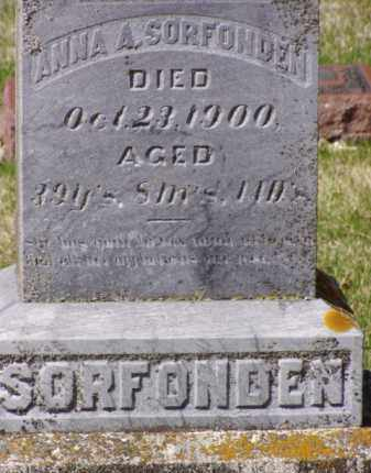 SORFONDEN, ANNA A. - Minnehaha County, South Dakota | ANNA A. SORFONDEN - South Dakota Gravestone Photos