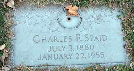 SPAID, CHARLES E. - Minnehaha County, South Dakota | CHARLES E. SPAID - South Dakota Gravestone Photos