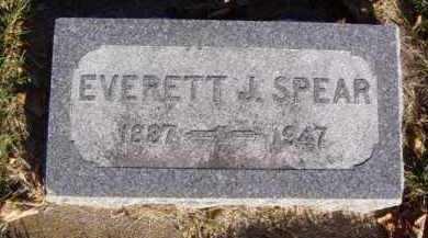 SPEAR, EVERETT J. - Minnehaha County, South Dakota | EVERETT J. SPEAR - South Dakota Gravestone Photos