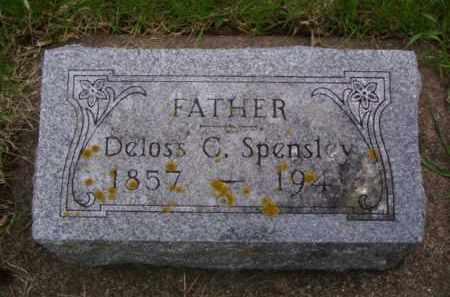 SPENSLEY, DELOSS C. - Minnehaha County, South Dakota   DELOSS C. SPENSLEY - South Dakota Gravestone Photos