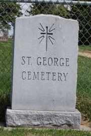 *ST. GEORGE CEMETERY, SIGN - Minnehaha County, South Dakota | SIGN *ST. GEORGE CEMETERY - South Dakota Gravestone Photos