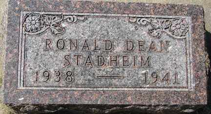 STADHEIM, RONALD DEAN - Minnehaha County, South Dakota | RONALD DEAN STADHEIM - South Dakota Gravestone Photos