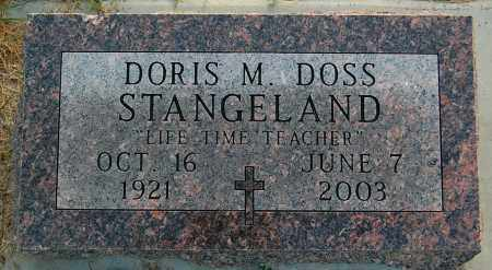 DOSS STANGELAND, DORIS M. - Minnehaha County, South Dakota | DORIS M. DOSS STANGELAND - South Dakota Gravestone Photos