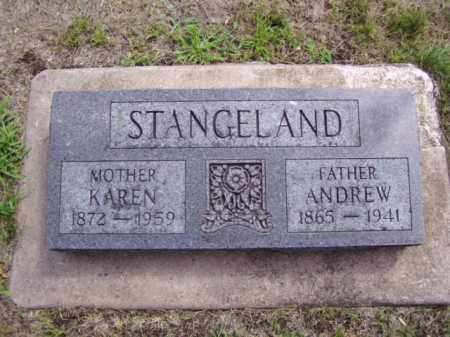 STANGELAND, ANDREW - Minnehaha County, South Dakota | ANDREW STANGELAND - South Dakota Gravestone Photos