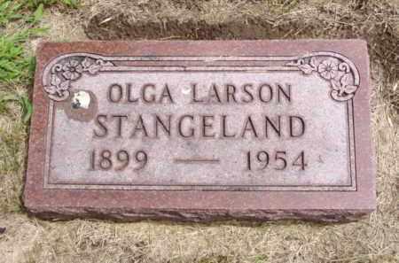STANGELAND, OLGA - Minnehaha County, South Dakota   OLGA STANGELAND - South Dakota Gravestone Photos