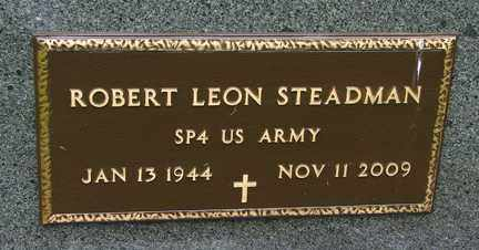 STEADMAN, ROBERT LEON (MILITARY) - Minnehaha County, South Dakota   ROBERT LEON (MILITARY) STEADMAN - South Dakota Gravestone Photos