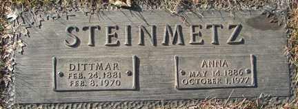 STEINMETZ, ANNA - Minnehaha County, South Dakota | ANNA STEINMETZ - South Dakota Gravestone Photos