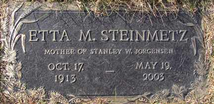 STEINMETZ, ETTA M. - Minnehaha County, South Dakota | ETTA M. STEINMETZ - South Dakota Gravestone Photos