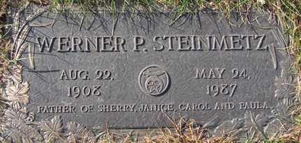 STEINMETZ, WERNER P. - Minnehaha County, South Dakota   WERNER P. STEINMETZ - South Dakota Gravestone Photos