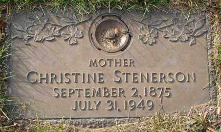 CHRISTOPHERSON STENERSON, CHRISTINE - Minnehaha County, South Dakota | CHRISTINE CHRISTOPHERSON STENERSON - South Dakota Gravestone Photos