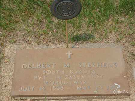 STEPHENS, DELBERT M. - Minnehaha County, South Dakota | DELBERT M. STEPHENS - South Dakota Gravestone Photos