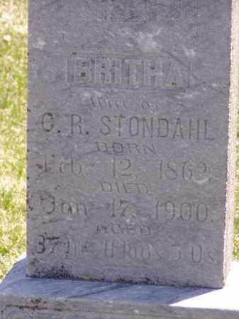 STONDAHL, BRITHA - Minnehaha County, South Dakota | BRITHA STONDAHL - South Dakota Gravestone Photos