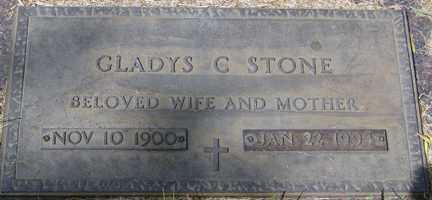 STONE, GLADYS C. - Minnehaha County, South Dakota | GLADYS C. STONE - South Dakota Gravestone Photos