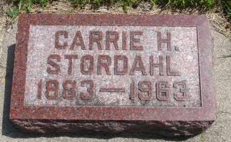 STORDAHL, CARRIE H. - Minnehaha County, South Dakota | CARRIE H. STORDAHL - South Dakota Gravestone Photos