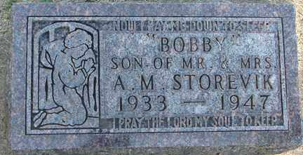 STOREVIK, BOBBY - Minnehaha County, South Dakota | BOBBY STOREVIK - South Dakota Gravestone Photos