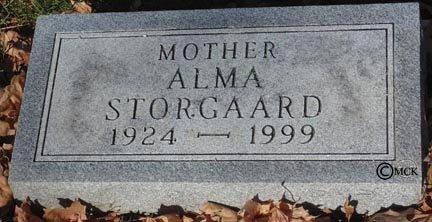 STORGAARD, ALMA - Minnehaha County, South Dakota   ALMA STORGAARD - South Dakota Gravestone Photos