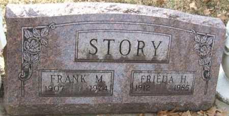 STORY, FRANK M. - Minnehaha County, South Dakota | FRANK M. STORY - South Dakota Gravestone Photos