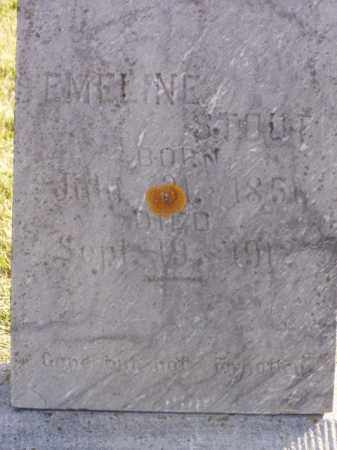 STOUT, EMELINE - Minnehaha County, South Dakota | EMELINE STOUT - South Dakota Gravestone Photos