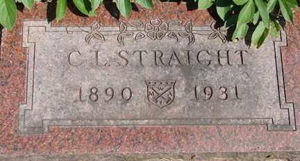 STRAIGHT, C.L. - Minnehaha County, South Dakota | C.L. STRAIGHT - South Dakota Gravestone Photos