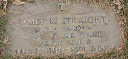 STRAIGHT, JAMES M. (WWII) - Minnehaha County, South Dakota | JAMES M. (WWII) STRAIGHT - South Dakota Gravestone Photos