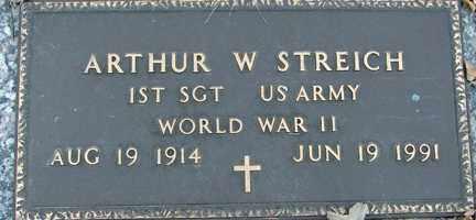STREICH, ARTHUR W. (WWII) - Minnehaha County, South Dakota | ARTHUR W. (WWII) STREICH - South Dakota Gravestone Photos