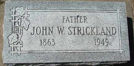 STRICKLAND, JOHN W. - Minnehaha County, South Dakota | JOHN W. STRICKLAND - South Dakota Gravestone Photos