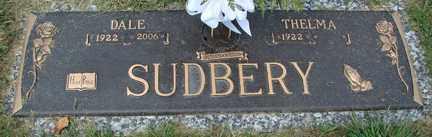 SUDBERY, DALE - Minnehaha County, South Dakota   DALE SUDBERY - South Dakota Gravestone Photos
