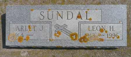 SUNDAL, ARLET J. - Minnehaha County, South Dakota | ARLET J. SUNDAL - South Dakota Gravestone Photos