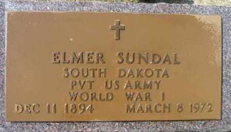 SUNDAL, ELMER (WWI) - Minnehaha County, South Dakota | ELMER (WWI) SUNDAL - South Dakota Gravestone Photos