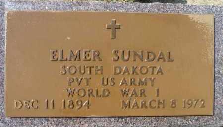 SUNDAL, ELMER (WWI) - Minnehaha County, South Dakota | ELMER (WWI) SUNDAL - South Dakota Gravestone Photos