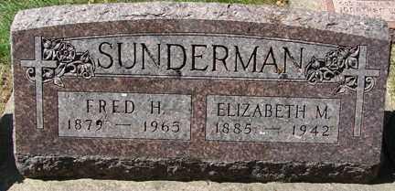SUNDERMAN, ELIZABETH M. - Minnehaha County, South Dakota | ELIZABETH M. SUNDERMAN - South Dakota Gravestone Photos