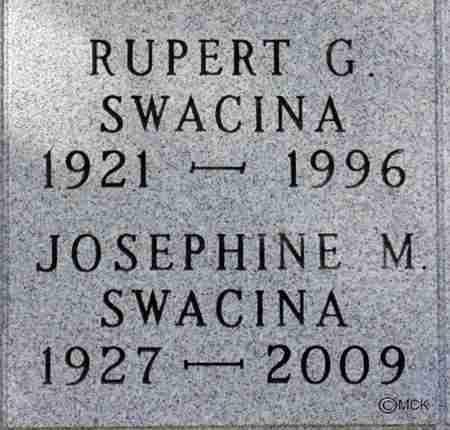 SWACINA, RUPERT G. - Minnehaha County, South Dakota | RUPERT G. SWACINA - South Dakota Gravestone Photos